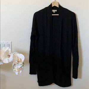 LOFT | black knit open cardigan sweater